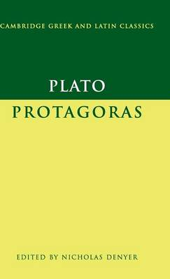 Plato: Protagoras - Cambridge Greek and Latin Classics (Hardback)