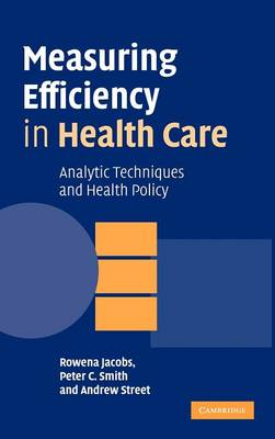 Measuring Efficiency in Health Care: Analytic Techniques and Health Policy (Hardback)