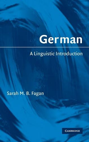 German: A Linguistic Introduction (Hardback)