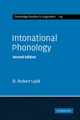 Intonational Phonology - Cambridge Studies in Linguistics (Hardback)