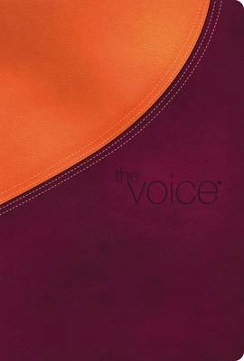 The Voice Bible, Leathersoft, Orange/Purple: Step Into the Story of Scripture (Leather / fine binding)