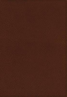 KJV, UltraSlim Reference Bible, Imitation Leather, Brown, Indexed, Red Letter Edition (Leather / fine binding)