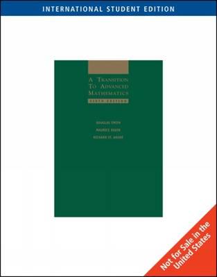A Transition to Advanced Mathematics (Paperback)