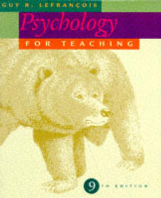 Psychology for Teaching (Paperback)