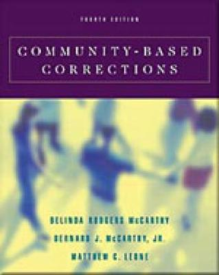 Community-Based Corrections (with InfoTrac (R)) (Paperback)