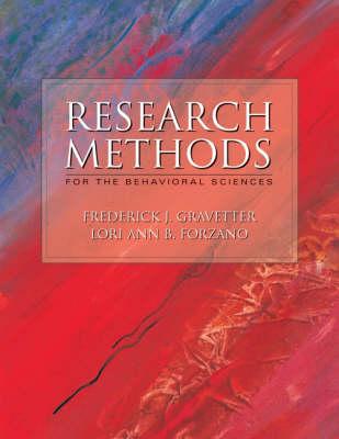 Research Methods for the Behavioral Sciences (Hardback)