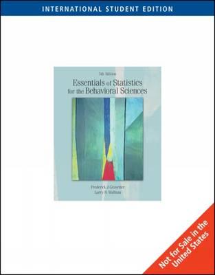 Essentials of Statistics for the Behavioral Sciences (Ise) (Paperback)