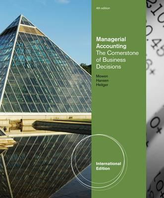 Cornerstones of Managerial Accounting (Hardback)