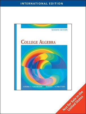 College Algebra, International Edition (Paperback)