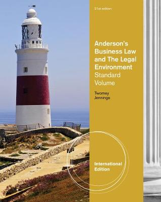 Anderson's Business Law and the Legal Environment, Standard Volume, International Edition (Paperback)