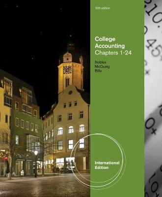 College Accounting, Chapters 1-24, International Edition (Paperback)