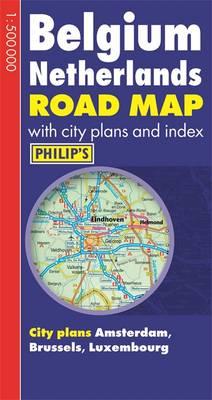 Philip\'s Road Map Europe Belgium/Netherlands | Waterstones