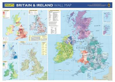 Philip's Britain and Ireland Wall Map (Hardback)