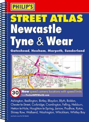 Philip's Street Atlas Newcastle Tyne and Wear - Philip's Street Atlases (Spiral bound)