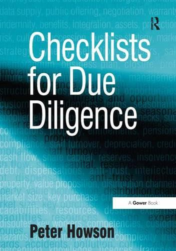 Checklists for Due Diligence (Paperback)