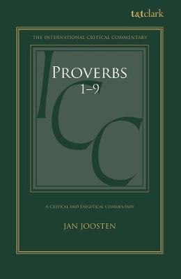 Cover Proverbs 1-9 - International Critical Commentary