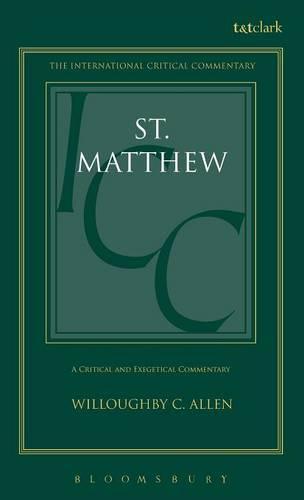 St.Matthew - International Critical Commentary (Hardback)