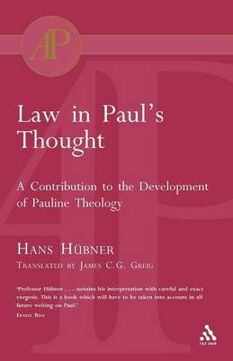 Law in Paul's Thought (Paperback)