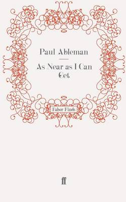 As Near as I Can Get (Paperback)