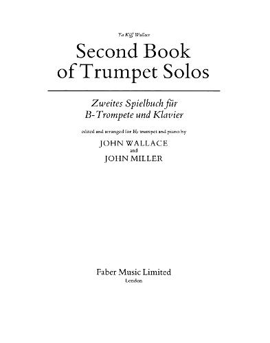 Second Book Of Trumpet Solos (Paperback)