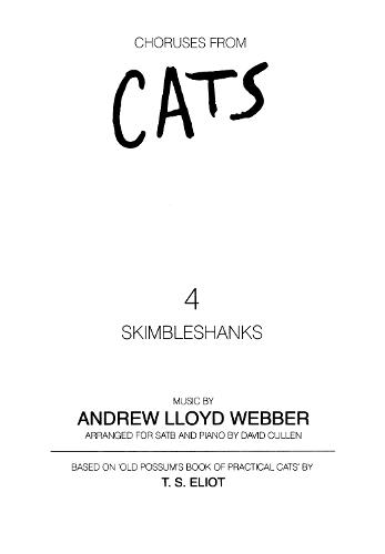 Skimbleshanks (Mixed Voices and Piano) (Sheet music)