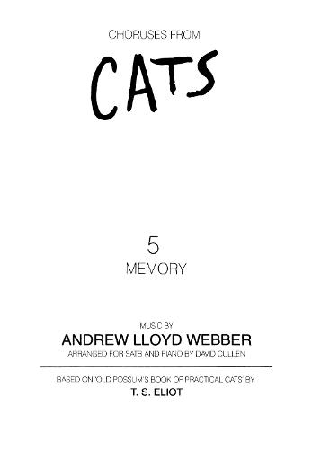 Memory (from Cats) (Mixed Voices and Piano) (Sheet music)