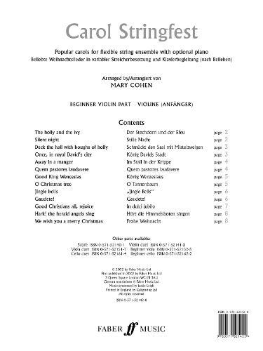 Carol Stringfest: (Beginner Violin Part) (Paperback)