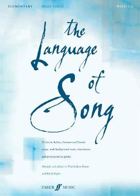 The Language of Song: Elementary - High Voice - Language of Song (Paperback)