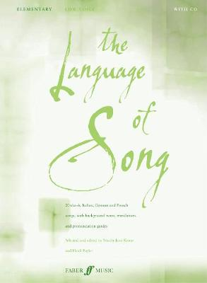 The Language of Song: Elementary - Low Voice - Language of Song (Paperback)
