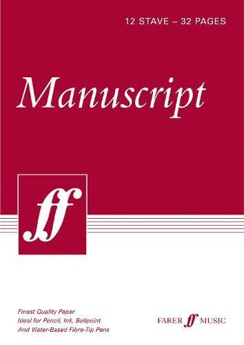 32-page A4 Manuscript Book, 12-stave (Paperback)