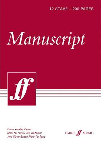 200-page A4 Manuscript Pad, 12-stave (Paperback)