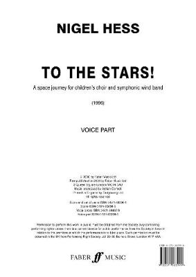 To The Stars! (Vocal Parts) - Faber Wind Band (Paperback)