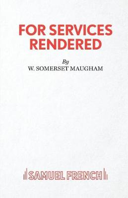 For Services Rendered (Paperback)