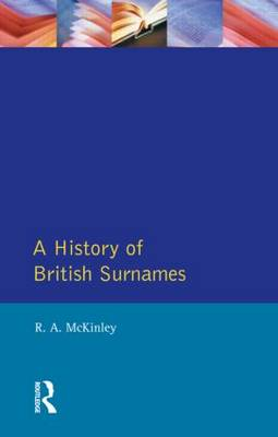 A History of British Surnames - Approaches To Local History (Paperback)