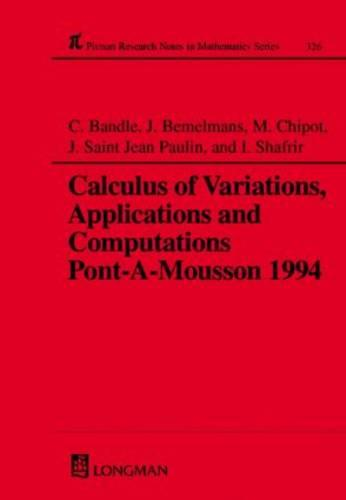 Calculus of Variations, Applications and Computations - Chapman & Hall/CRC Research Notes in Mathematics Series 326 (Hardback)