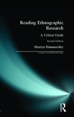 Reading Ethnographic Research - Longman Social Research Series (Paperback)