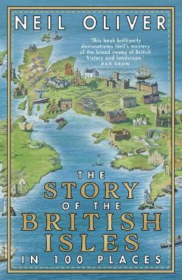 Map Of England Under Alfred The Great.The Story Of The British Isles In 100 Places Hardback