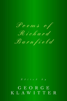 Poems of Richard Barnfield (Paperback)