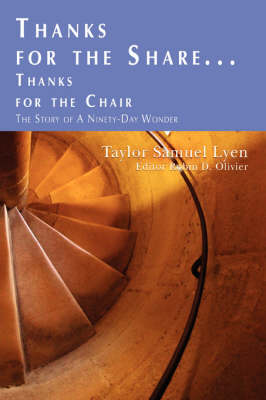 Thanks for the Share ...: Thanks for the Chair (Paperback)