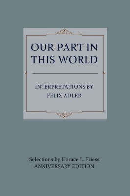 Our Part in This World (Paperback)