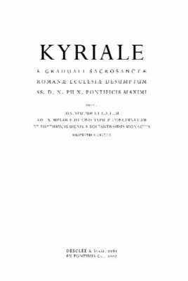 Kyriale Romanum (1961) (Hardback)