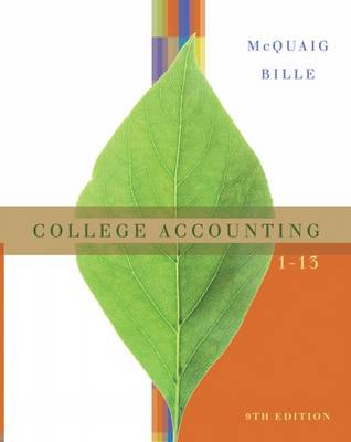 College Accounting, Chapters 1-13: Student Text (Hardback)