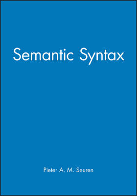 Semantic Syntax (Paperback)