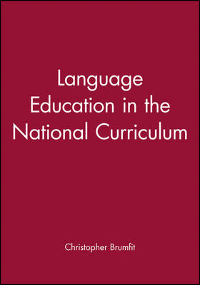 Language Education in the National Curriculum - Language in Education (Paperback)