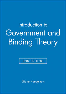 Introduction to Government and Binding Theory - Blackwell Textbooks in Linguistics (Paperback)