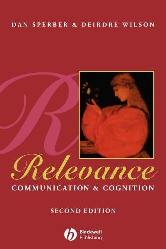 Relevance: Communication and Cognition (Paperback)