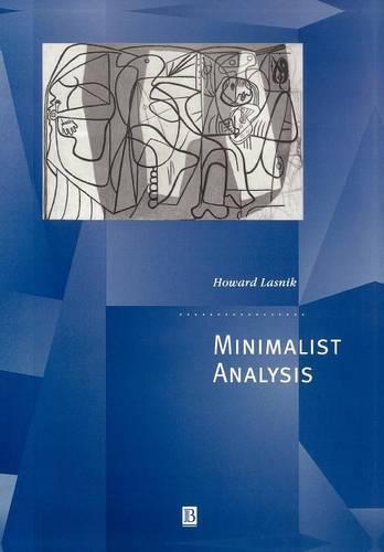 Minimalist Analysis - Generative Syntax (Paperback)