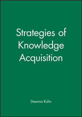 Strategies of Knowledge Acquisition - Monographs of the Society for Research in Child Development (Paperback)