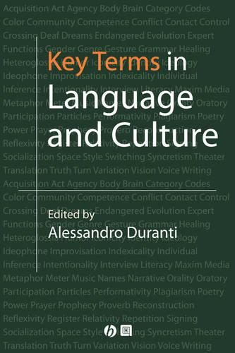 Key Terms in Language and Culture (Paperback)
