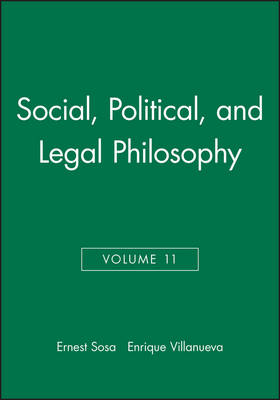 Social, Political, and Legal Philosophy - Philosophical Issues: A Supplement to Nous (Paperback)